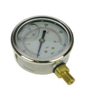 Glycerine Filled Pressure Gauge 0 - 300psi (0 - 20 bar)