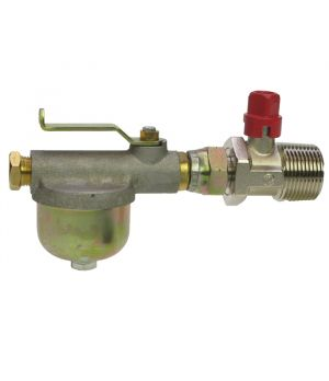 Oil Tank Filter Valve Assembly - ¼ Turn Valve Built In