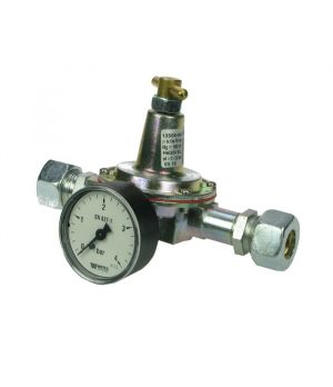GOK 2 - 180 L/hr Oil Pressure Regulator c/w Gauge