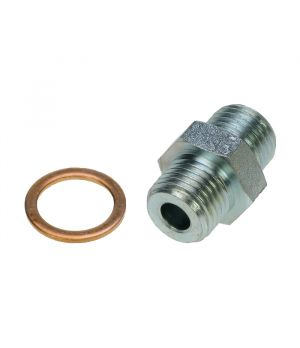 "¼"" x ¼"" Oil Line Adaptor With Copper Ring For Braided Safety Oil Lines"