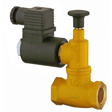 Geca Manual Gas Solenoid Valves - Normally Closed